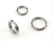 Кольцо для рыбалки Lure Ring Двойные кольца Нержавеющая сталь Сплит-кольца для приманки Кривошипная приманка Жесткая наживка Рыбалка Кольцо Bass Walleye Рыболовные снасти Free shipp