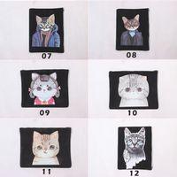 Printed Cat Canvas Clutch Bag Purse Handbag File Pocket Coin...