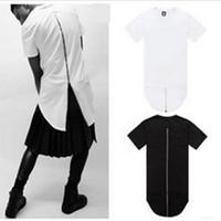 2016 Black White Hot sale XXL Long Back Zipper Streetwear Sw...