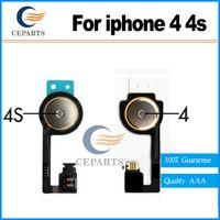 Pour iphone 4 pour iPhone 4S Accueil Bouton de rechange Flex câble de retour clés ruban Pièces câble avec expédition rapide