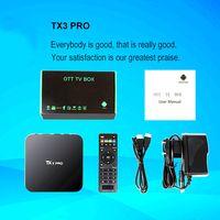 Android Box TX3 PRO 4K Amlogic S905X IPTV Android 6. 0 Tv box...