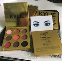 лучший рождественский подарок Горячий в наличии! Новый золотой макияж глаз Кайли KyShadow тени для век пудра палитра теней Мини-9 цветов Eyeshadow