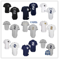 Wholesale #2 Derek Jeter Home White Jersey Baseball Jerseys ...