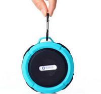 C6 IPX7 ducha de deportes al aire libre portátil inalámbrico inalámbrico de Bluetooth de altavoz de succión de manos libres caja de micrófono de voz para iphone 6 IPAD PC Phone