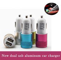 Новый алюминиевый немного Cannon Автомобильное зарядное устройство 2 порта сигареты 2.1A Зарядные устройства Micro Dual USB адаптер флэш двойной порт USB для телефона Pad