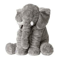 Retail Baby Elephant Plush Pillow Cushion Children Room Bedd...