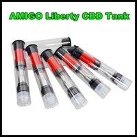Newset THC CBD Tanque Amigo Liberty CBD 0.5ml 1.0ml Top Cartouche AirFlow THC Réservoir d'huile VS CE3 O-pen bouton Batterie atomiseur