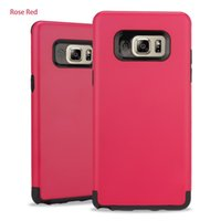 Rose Red Double Layer Protection Cell Phone Cases For Samsun...
