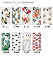 Для Apple Iphone 7 плюс 6S цветок задней стороны обложки Soft Сверхтонкие покрытие TPU случая четкие структуры для Samsung S7 S8 края S6