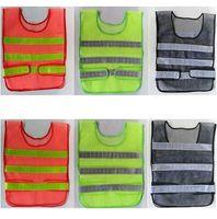 Novo design Visibilidade Refletivo Segurança Vest Brasão Saneamento Vest Tráfego Segurança aviso roupas colete segurança trabalhando colete pano A0239-1