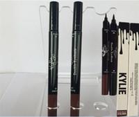 Kylie Jenner double eye-eye crayon sourcils cosmétiques outil de maquillage côté pour les yeux foncés sourcils crayons Liquide étanche Noir et brun