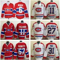 Montreal Canadiens Hockey Jerseys Ice Hockey 6 Shea Weber 11...