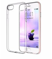Cas de téléphonie mobile pour l'iPhone 7 Plus 6 6s Plus TPU Transparent Soft Phone Sac mince plaqué or rose Case Clear Crystal