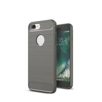 Para el iPhone 7 de fibra de carbono del gel de TPU caja del teléfono de la contraportada de silicona a prueba de golpes Shell Cases para Iphone 7