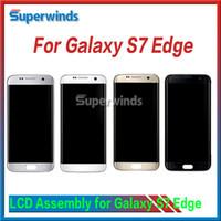 Pour Samsung Galaxy S7 Bord LCD Assemblée Digitizer LCD d'origine écran écran tactile DHL 1PC gratuit