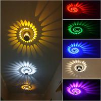 3W Спираль Светодиодные настенные светильники Потолочные светильники Освещение Спальня Крыльцо Крепеж Home Decor # 17