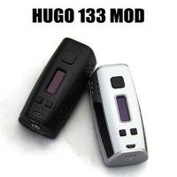 Аутентичные HUGO 133 TC Mod HUGO133 HUGO Vapor E Сигареты 133W Box Mod Смарт испарителем 0,96 '' OLED-экран Dual 18650 Vape Модификации
