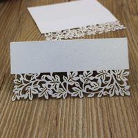 Small petal table card white bridal wedding memoes 0. 35&quot...