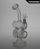 20CM hauteur Tuyau en verre fumant Brosse de recyclage Huile de verre en verre de taille de joint 14.4mm SL012