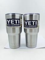 Yeti 30 унций Кружки из нержавеющей стали 304 YETI Кубок Рамблер массажер Автомобиль Пивная кружка с двойными стенками с вакуумной изоляцией Bilayer 900мл YETI Drinkware