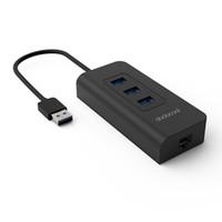 dodocool 3 porte USB 3.0 Hub con adattatore Ethernet RJ45 Gigabit libero Driver Support 10/100/1000 Mbps Ethernet nero DC18-1