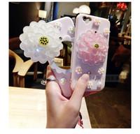 i7 plus Case Lady Pink Makeup Mirror Cute 3D Daisy Flower Mi...