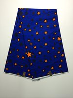Popular Negeria royal blue with stars pattern African painti...