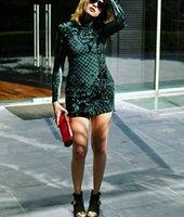 2016 new high quality fashion women long sleeve dress velvet...