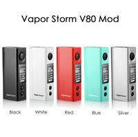 Аутентичные Vapor шторм V80 Mod 80W TC Mod Электронные сигареты Box Mod поддержки NI / Ti Катушки Single 18650 Mod Kit VS Playboy