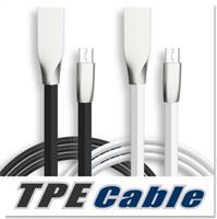 Micro USB et câble téléphonique 1M 3.3ft en forme de Rhombus TPE Cable Tangle Free Zinc Alliage Plug USB 2.0 Sync Data Cable pour Android et téléphone