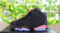 women retro 6 black white infrared low basketball shoes whol...