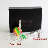 kit 10MM Nectar Collector avec de l'huile de verre de quartz / titane à ongles truque conduites d'eau en plastique includ Keck Clip