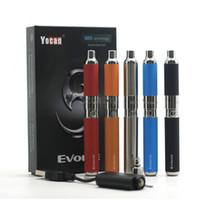 Аутентичные Yocan Evolve Kit Wax Vaporizer Pen Kit E сигареты Стартовые наборы Кварц Dual Катушки 650mAh Батарея 5 цветов на складе
