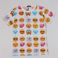 Hot fashion emoji t shirt hot style emoticons tshirt summer ...