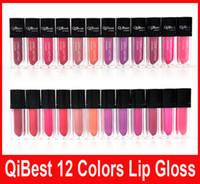 QiBest Водонепроницаемый Помада Блеск для губ Long Lasting Lip Gloss QiBest макияж губы 12 цветов блески для губ антипригарным Кубок Помада Hot Sale
