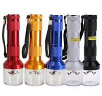 DHL Free Torch en forme de broyeur électrique Grinder Herb Tobacco Spice Smoke Grinders vaporisateur cliquez sur n vape rapidement en aluminium 14,5 cm 50pcs