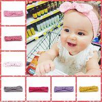 10 colors Baby Kids Knot Headbands Braided Headwrap Polka Do...