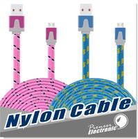 Câble Micro USB, Premium 3FT / 6FT / 10FT Tissu Nylon tressé USB 2.0 Un mâle à Micro B Data Sync et Charge Câbles pour Samsung, HTC, Sony etc