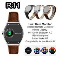 RWATCH R11 MTK2501 Bluetooth 4.0 relógio inteligente Compass Infrared Remote Coração Controlador Rate Monitor IP65 sincronização relógio de pulso à prova d'água para o telefone
