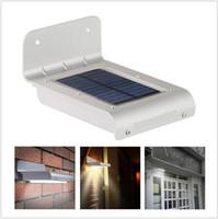 UniqueFire 16 LED Solar Power Lamp Motion Sensor Yard Garden...