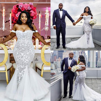 Lace Applique Beads Wedding Dresses Off Shoulder Sleeveless ...