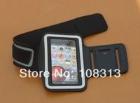 Gros-100pcs / lot Courir Sport Gym Armband Arm Case de bande pour l'iPhone 4 4S 5 5S SE