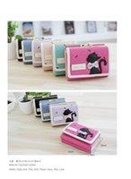Fashion Girls Mini Wallet Cute Cat Coin Purses Three Fold Wa...