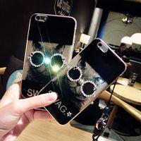 Fashion Glitter Cat Case for iphone 7 7 plus Rhinestone Diam...