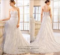 2017 A Line Wedding Dresses Lace Sweetheart Floor Length Bri...