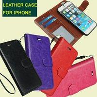 Pour iphone 6 6S 6plus 2 en 1 aimant magnétique détachable amovible Porte-monnaie en cuir cas Retro Cover iPhone6 5 galaxie bord S7 DHL SCA155 gratuit