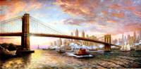 Рамку Дух Нью-Йорка, чисто ручной росписью Вид на город садово-паркового искусства Картина маслом Canvas.any нескольких имеющиеся размеры artoil