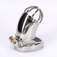 Male Chastity Belt Stainless Steel Bondage Sex Toys Metal Co...