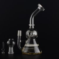 Mini Bain Bong Honeycombe disque et inline perc BALL HOLES TETE 14.5mm mâle Joint H = 190mm BestGlass B15