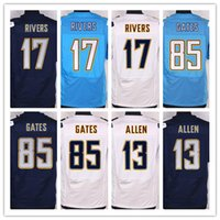 2016 New Men' s Elite Chargers Football Jerseys 17 River...